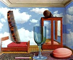 Rene Magritte: Personal Values - 1951-1952 The comb and make up brush appear to have texture but its really just a painting (implied texture).