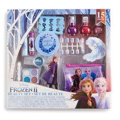 She'll have fun doing a complete Frozen makeover using this Disney's Frozen 2 Girls' Mega Beauty Set. Little Girls Makeup, Kids Toy Shop, Minnie Mouse Toys, Baby Dolls For Kids, Frozen Merchandise, Frozen Elsa Dress, Diy Barbie Clothes, Disney Princess Frozen, Baby Dress Patterns
