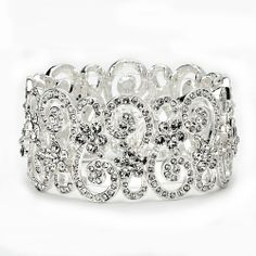 Glamorous Stretch Crystal Bracelet in a unique sparkling crystal design on a silvertone finish Absolutely stunning.