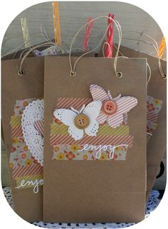 ♥ party goodie bags, tags & a card ♥