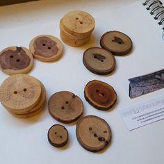 Handmade Wood Buttons Handcrafted Wood от WhiteStudioSupplies