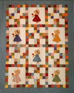 Country Girls applique quilt patterns.