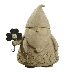 Grasslands Road Dublin Court Celtic Garden Gnome Figurine with Shamrock