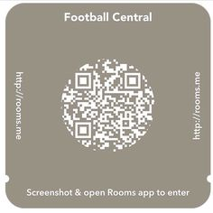 Football Central #rooms #roomsapp #facebookrooms