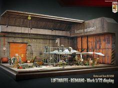 Luftwaffe secret base 1/72 Scale Model Diorama