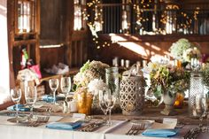 Country chic feasting tables