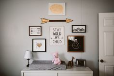 little girl's nursery | baby room | black gold pink | allisonharp.com