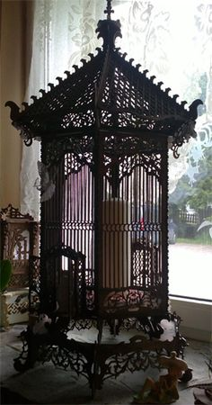 French birdcage, scroll saw fretwork pattern                                                                                                                                                                                 More