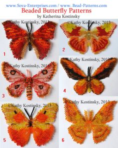 Beaded Butterfly Patterns by Katherina Ksotinsky