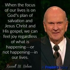 President Nelson we will feel joy no matter what's going on Prophet Quotes, Jesus Christ Quotes, Gospel Quotes, Mormon Quotes, Lds Quotes, Religious Quotes, Great Quotes, Quotes To Live By, Uplifting Thoughts