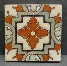Vintage Old Ceramic Dal Tile Mexico Tiles 4 Quot Blue And