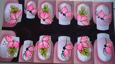mariposas Flower Nails, Beautiful Nail Art, Nail Arts, Toe Nails, Pedicure, Hair And Nails, Nail Art Designs, Nail Polish, White Nail Beds