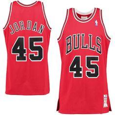 Men's Chicago Bulls Michael Jordan #45 Mitchell & Ness 1994-95 Homecoming Authentic Jersey