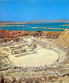 Delos Island, here is where Apollo was born Delos Greece, Mykonos Greece, Greece Tours, Greece Travel, Archaeological Site, Ancient Greece, Greek Islands, Crete, World Heritage Sites