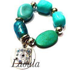 Bracelet fantaisie en bleue, bijoux pas chers