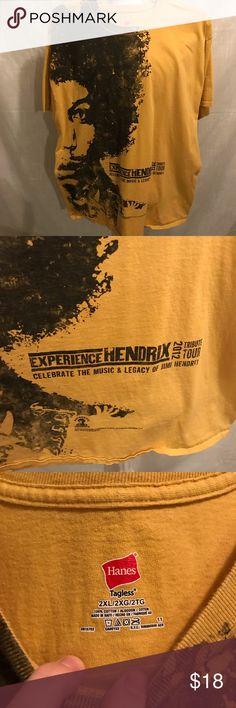e6f3155b3af Jimi Hendrix t-shirt XXL Nice Hendrix tribute tour t-shirt in size XXL
