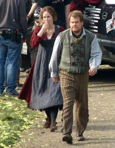 "James Corden and Emily Blunt in costume as the Baker and his wife*! | First Set Photos Show Off An ""Into The Woods"" Wedding"