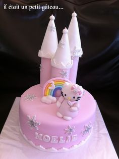 Gâteau château hello kitty hiver cake winter castle