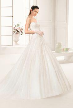 redil by rosa clara robe bustier romantique rosaclara metz mariage marionsnous - Coiffeur Mariage Metz