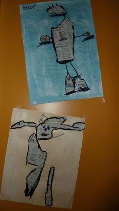 portrait avec du papier journal déchiré