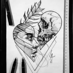Badass Drawings, Dark Art Drawings, Pencil Art Drawings, Art Drawings Sketches, Tattoo Sketches, Tattoo Drawings, Body Art Tattoos, Heart Tattoos, Tattoo On