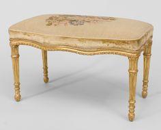 English Georgian seating bench/stool gilt