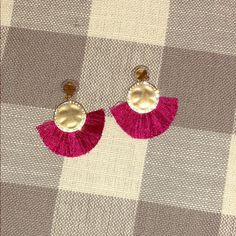 J. Crew Jewelry | Jcrew Fuchsia Tassel Earrings | Poshmark Tassel Earrings, Tassels, J Crew, Polka Dots, Women Jewelry, Reusable Tote Bags, Outfit, Pink, Things To Sell