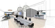 HAUS C | Mayr & Glatzl Innenarchitektur GmbH Loft House, Sketch, Interiors, Bathroom, Attic Rooms, Sketches, Interior Designing, Projects, House