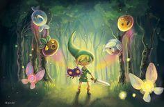 The Legend of Zelda: Majora's Mask _fanart by nixax on Etsy