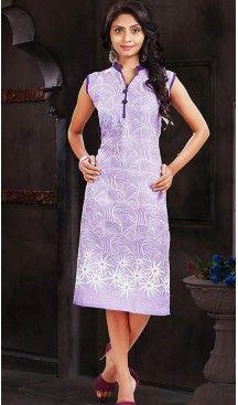 Cotton Lavender Color Daily Wear Readymade Kurtis | FH480774198 #kurtis , #kurtas , #tunic , #top , #fashion , #clothing , #women , #heenastyle , #ladies , @heenastyle , #teenagers , #girls , #style , #mode , #mehendi