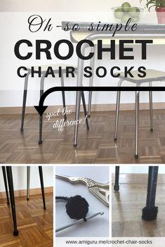 The Simplest DIY Crochet Chair Socks Recipe - amiguru. Sock Recipe, Diy Recipe, Crochet Home, Diy Crochet, Simple Diy, Easy Diy, Chair Socks, Floors, Crafty