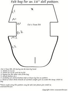 Pattern to make a purse for American Girl dolls