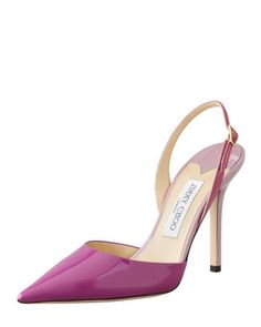 7a7ea5e0766cdc Jimmy Choo Volt Patent Pointed Slingback, Orchid/Cyclamen - Bergdorf  Goodman Wedge Boots,