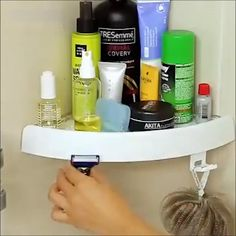 Corner Storage Holder Shelves – home diy organizations Bathroom Organisation, Home Organization, Bathroom Hacks, Toiletry Organization, Diy Bathroom Ideas, Bathroom Essentials, Corner Storage Shelves, Storage Racks, Towel Storage
