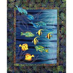 Sea Grass & Fish Japanese Quilt Pattern Sashiko & Applique Design