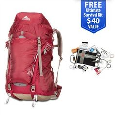 Gregory Sage 35 Rosewood Red - Medium is a women's mountaineering backpack is designed specifically for the female anatomy that combines an innovative suspension system with convenient access features.