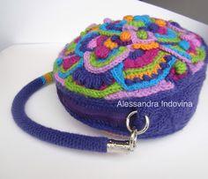 "#freeformcrochet #bags           Freeform crochet  ""My eccentric bag"""