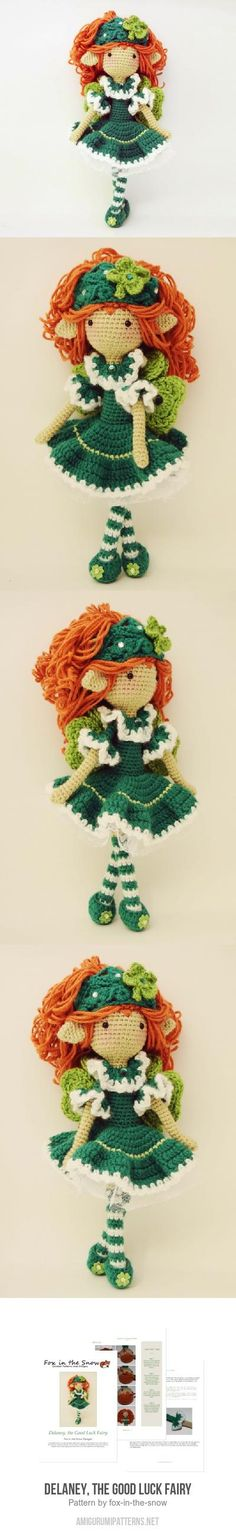 Delaney, the Good Luck Fairy amigurumi pattern by Fox in the snow designs