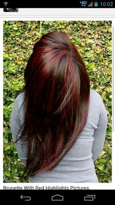 Chocolate with red highlights! This is how I want to do my hair asap!