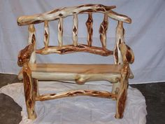 Diamond willow bench