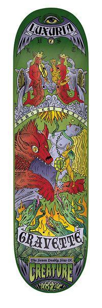 Gravette 7 Deadly Sins by Kozik Deck by Creature