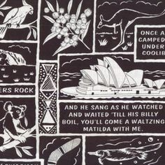 Australian Waltzing Matilda Quilt Fabric from Sarah J Home Decor