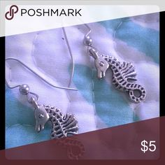 Fun SEAHORSES earrings! BOGO DEAL! Fashion earrings that you can share with your best friend or mom. BUY ONE GET ONE FREE! Jewelry Earrings