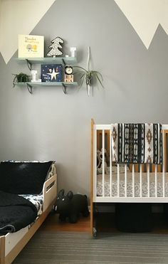 when you are given a tiny closet sized room and two tiny people to house. the boys and i. Grey Boys Rooms, Shared Boys Rooms, Shared Bedrooms, Baby Boy Rooms, Baby Bedroom, Nursery Room, Kids Bedroom, Bedroom Ideas, Bedroom Decor
