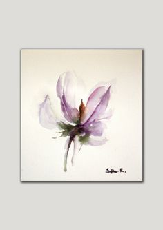 Original Watercolor Minimalist Abstract Painting. by SophieRR, $68.00