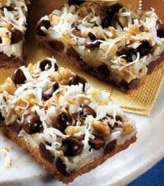 7 Layer Magic Cookie Bars Recipe. Love these! My mom used to make them frequently. Easy and delicious!