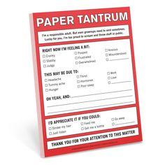 Knock Knock Paper Tantrum Nifty Notes | KnockKnockStuff.com