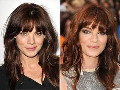 MICHELLE MONAGHAN    The chameleon-like actress proves she's equally versatile off screen, seamlessly transitioning from chocolate brown to a deep copper fringe