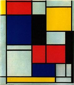 Piet Mondrian cuadros de varios colores