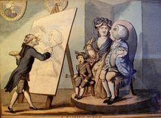 Antique COLOR ENGRAVING! Henry William BUNBURY 1750-1811 BEAUTIFUL SATIRE Framed